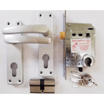 """6"""" Aluminium Cylinder Handle Lockset"""