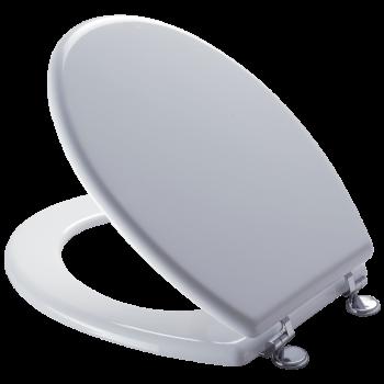 Toilet Seat White Mdf Chrome Plate Hinge