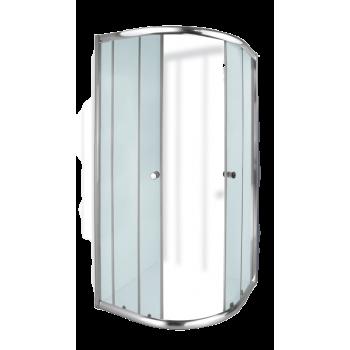 Aquila Quarter Round Shower Door Chrome