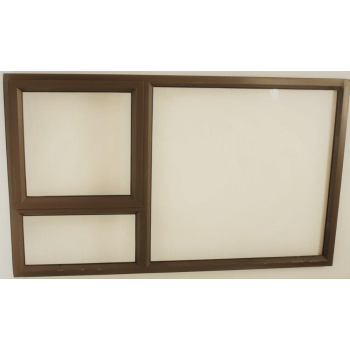 Window Frame Aluminium Pt129 Bronze Clear Left Hand