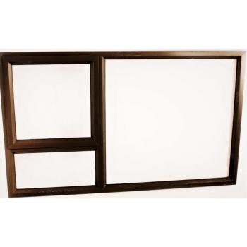 Window Frame Aluminium Pt159 Bronze Clear Left Hand